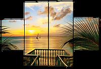 Модульная картина Interno Холст Вид с берега 126x85см (R219М)