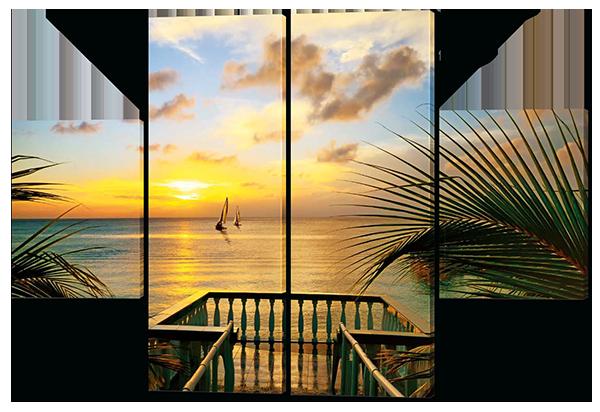 Модульная картина Interno Эко кожа Вид с берега 126x85см (A219М)