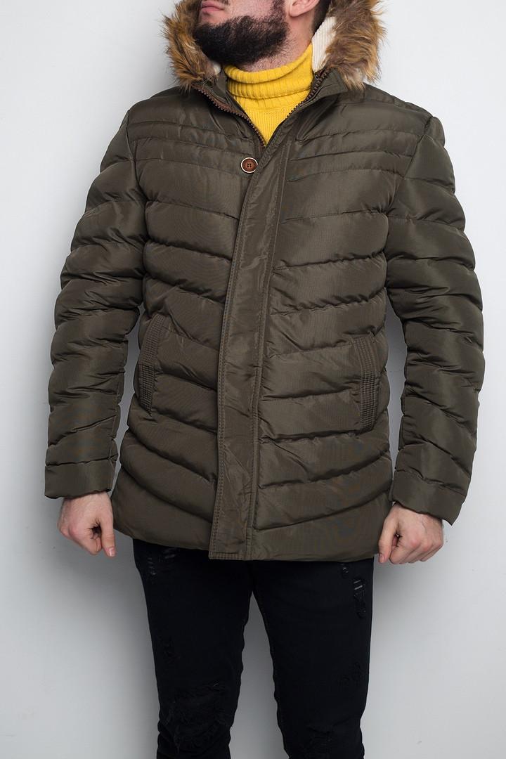 Куртка мужская зимняя цвет хаки. Куртка чоловіча зимова.ТОП КАЧЕСТВО!!!, фото 1
