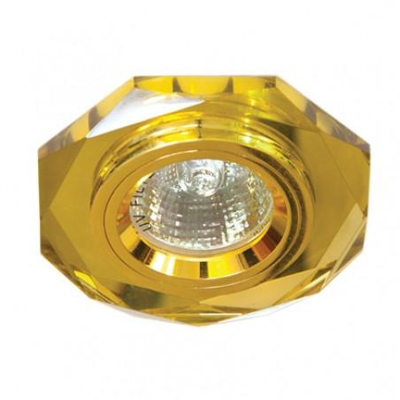 Точечный встраиваемый светильник Feron 8020-2 желтый+золото