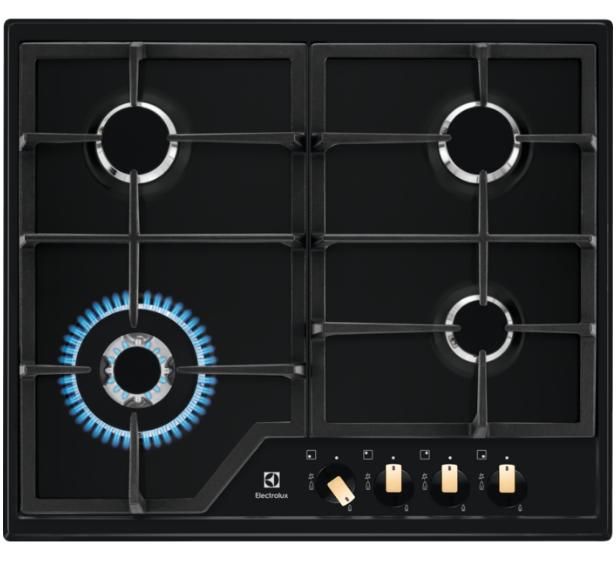Варочная поверхность газовая  Electrolux EGS6436RK цвет черный матовый