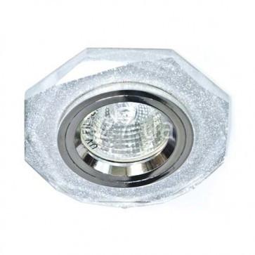 Точечный встраиваемый светильник Feron 8020-2 мерцающий+серебро
