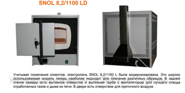Муфельная печь SNOL 8,2/1100 по ISO/FDIS 562:2010