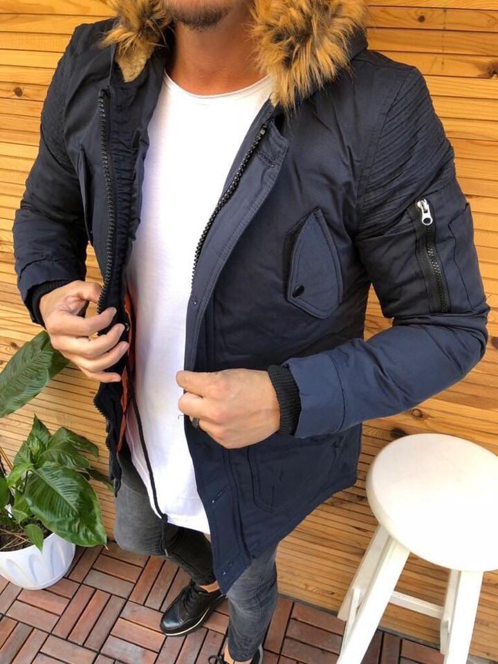 Куртка мужская зимняя синяя. Куртка чоловіча зимова.ТОП КАЧЕСТВО!!!