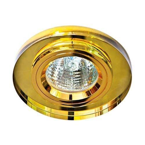 Точечный встраиваемый светильник Feron 8060-2 желтый+золото