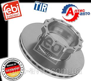 Гальмівний диск Man L2000 8.163, 8.180, 8.150 LE F90 з внутрішньою вентиляцією