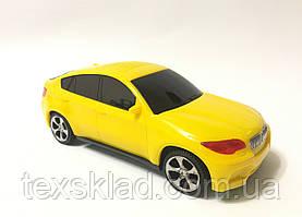 Мультимедийная машинка-колонка BMW X6 (USB/FM) Жёлтая