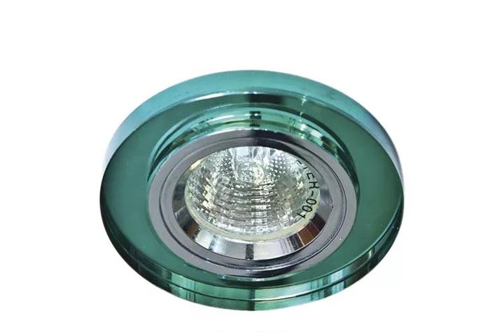 Точечный встраиваемый светильник Feron 8060-2 зеленый+серебро
