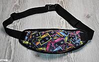 Поясная сумка Бананка Wions Oldschool. Материал: плотная, водоустойчивая ткань Oxford 600D