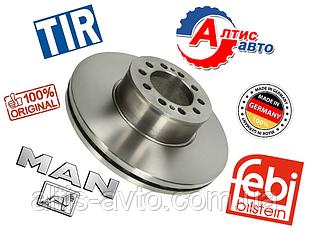 Тормозной диск Man передний, вентилируемый Febi германия 335x34x93