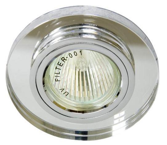 Точечный встраиваемый светильник Feron 8060-2 серебро+серебро