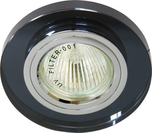 Точечный встраиваемый светильник Feron 8060-2 серый+серебро