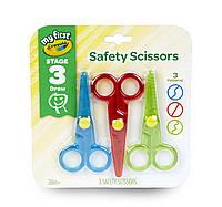 Ножницы фигурные Crayola My First Safety Scissors, волнообразные, загзагообразные, ровные, в наборе 3 шт, фото 1