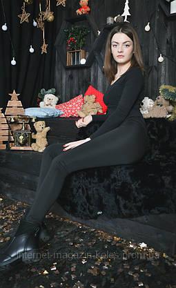 Классические женские черные лосины, фото 2