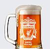 Пивной бокал с именной гравировкой ФК Ливерпуль