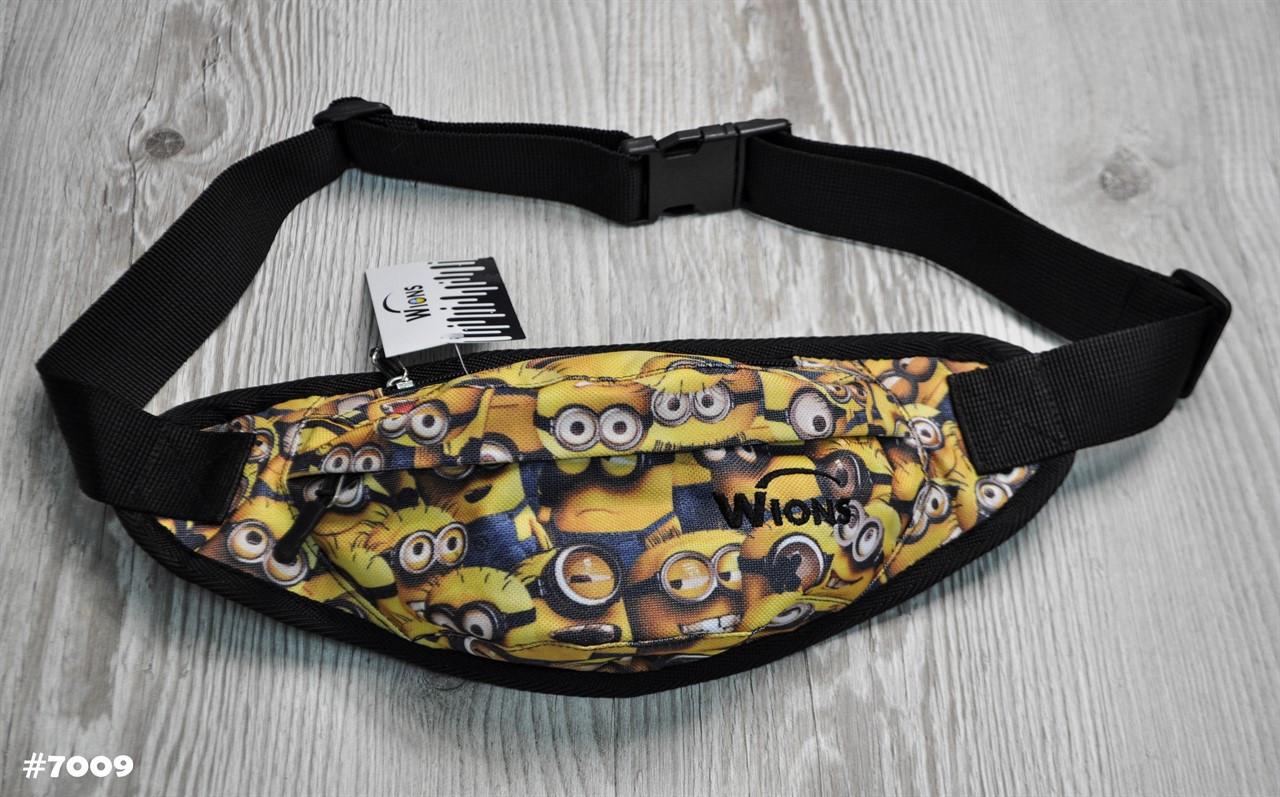 Поясная сумка Бананка Wions Minions. Материал: плотная, водоустойчивая ткань Oxford 600D