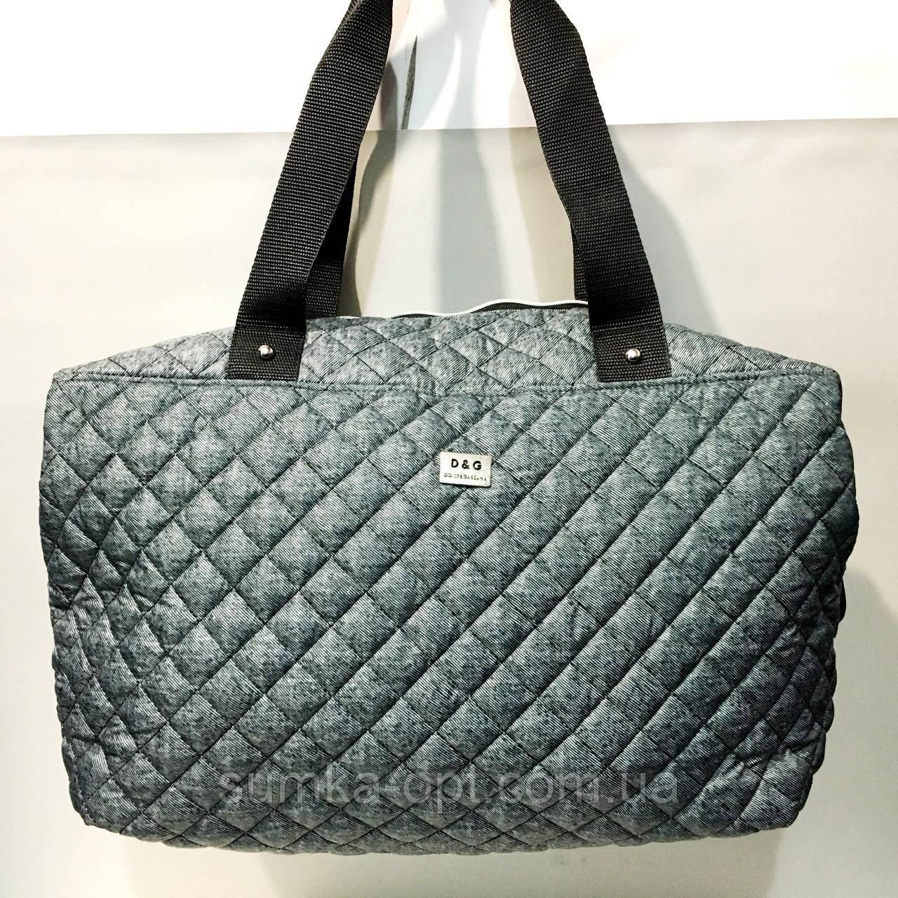 Брендовые спортивные сумки D&G (серый)28*39см