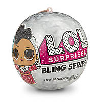 Кукла LOL новогодняя в шаре Surprise! Bling Series, 7 сюрпризов, праздничный сюрприз ОРИГИНАЛ, фото 1