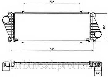 Радиатор интеркулера AUTOTECHTEILE 5007 MB Sprinter/VW LT 96-
