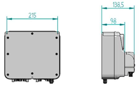 Габаритные размеры установки дозирования Microdos MP Dual