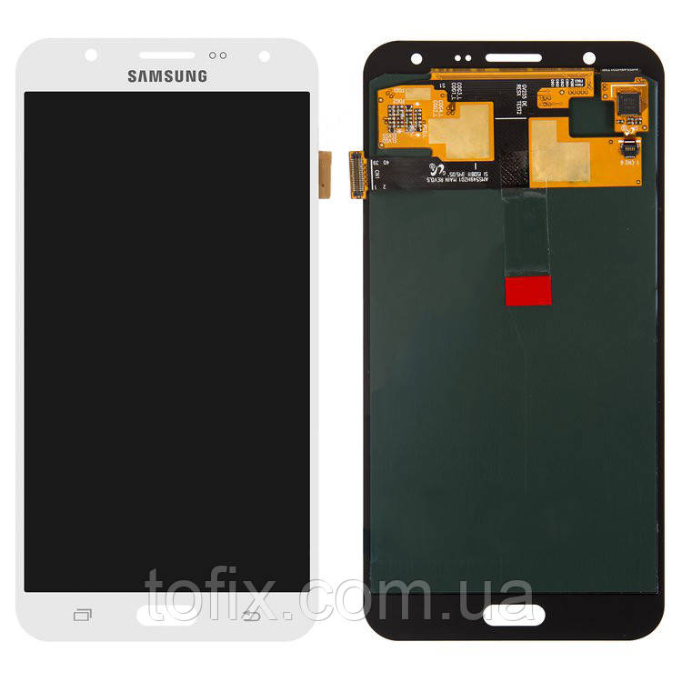 Дисплей для Samsung Galaxy J7 (2015) J700, модуль (экран и сенсор), белый, оригинал #GH97-17670A
