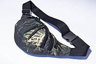 """Поясная сумка Бананка """"Листья"""". Материал: плотная, водоустойчивая ткань"""