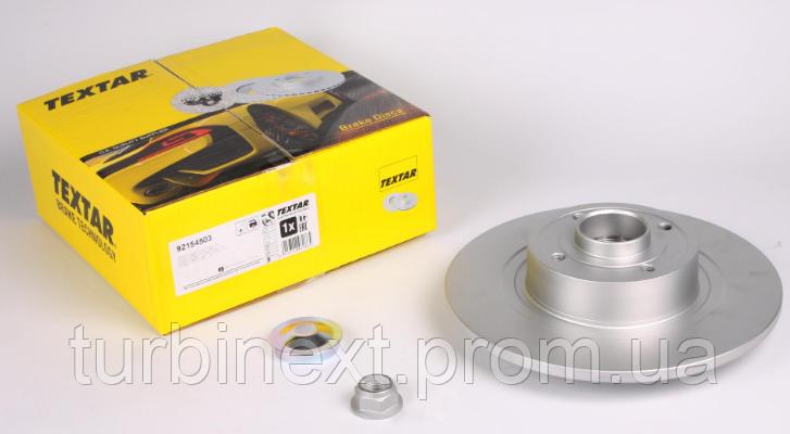 Диск тормозной TEXTAR 92154503 (задний) Renault Scenic II 03- (270х10) (+ABS) (с подшипником) PRO