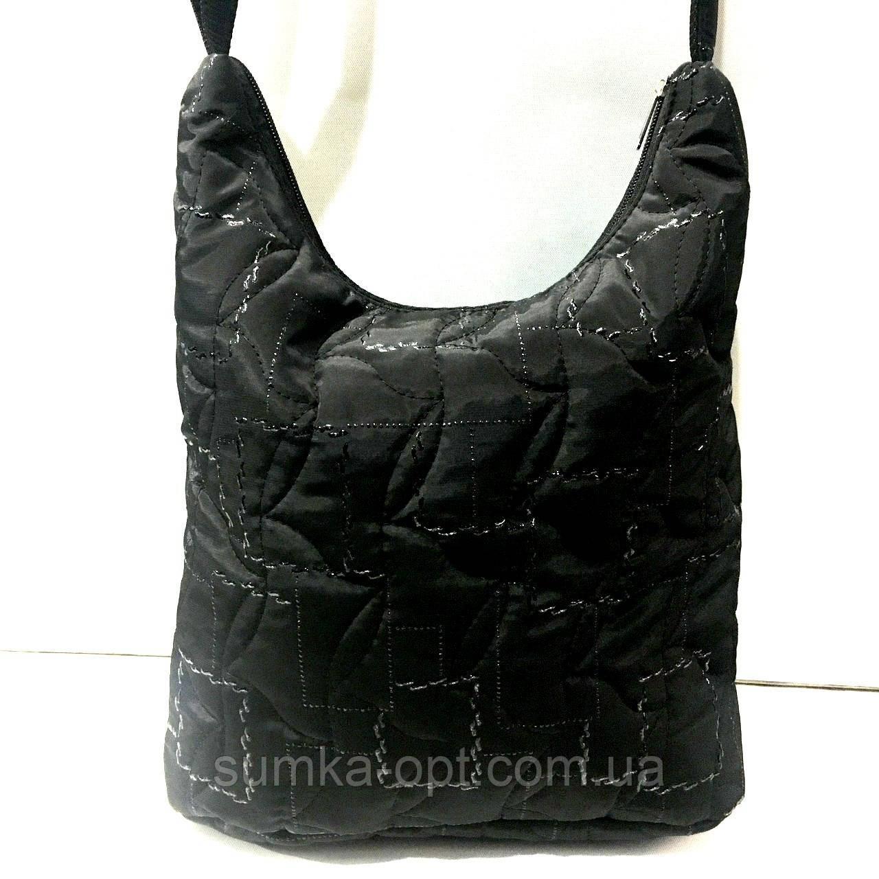 Стеганные сумки (черный узор)28*30см