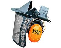 Щиток сетка VITA с наушниками 31 dB для триммера и лесоруба
