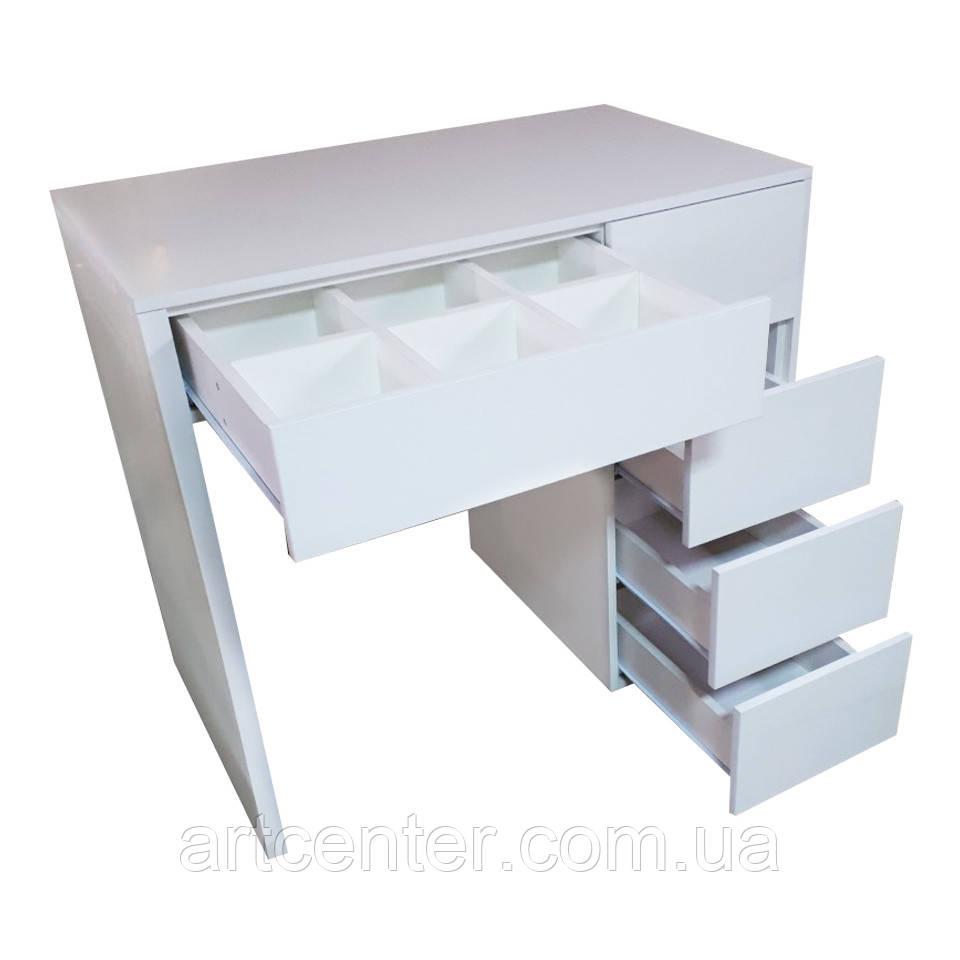 Туалетный стол с выдвижными ящиками без зеркала, стол визажиста