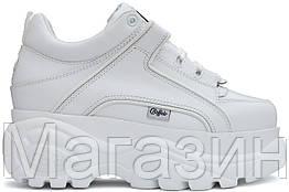 Женские кроссовки на платформе Buffalo London 1339 White Platform Sneakers Буффало Лондон белые