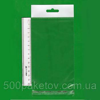 Пакет с европодвесом 15х10см
