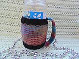 Вязаный чехол для стакана,кружки,бутылки,банки, фото 3