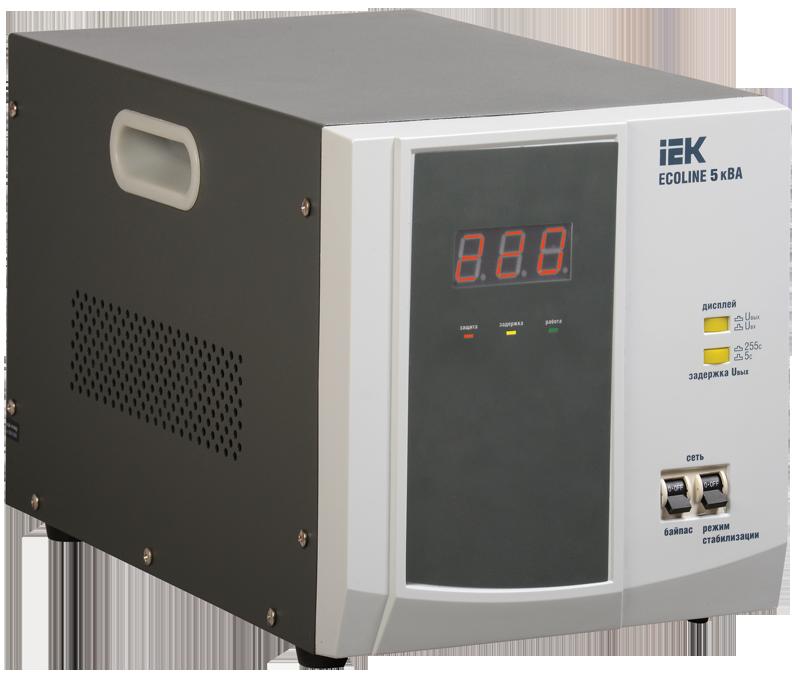 Стабилизатор напряжения Ecoline 5 кВА электронный переносной, IEK