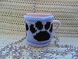 Вязаный чехол на чашку, фото 4