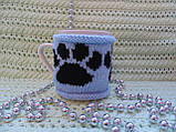 Вязаный чехол на чашку, фото 5