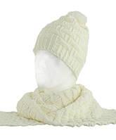 Вязаный женский комплект шарф и шапка TRAUM 2520-22