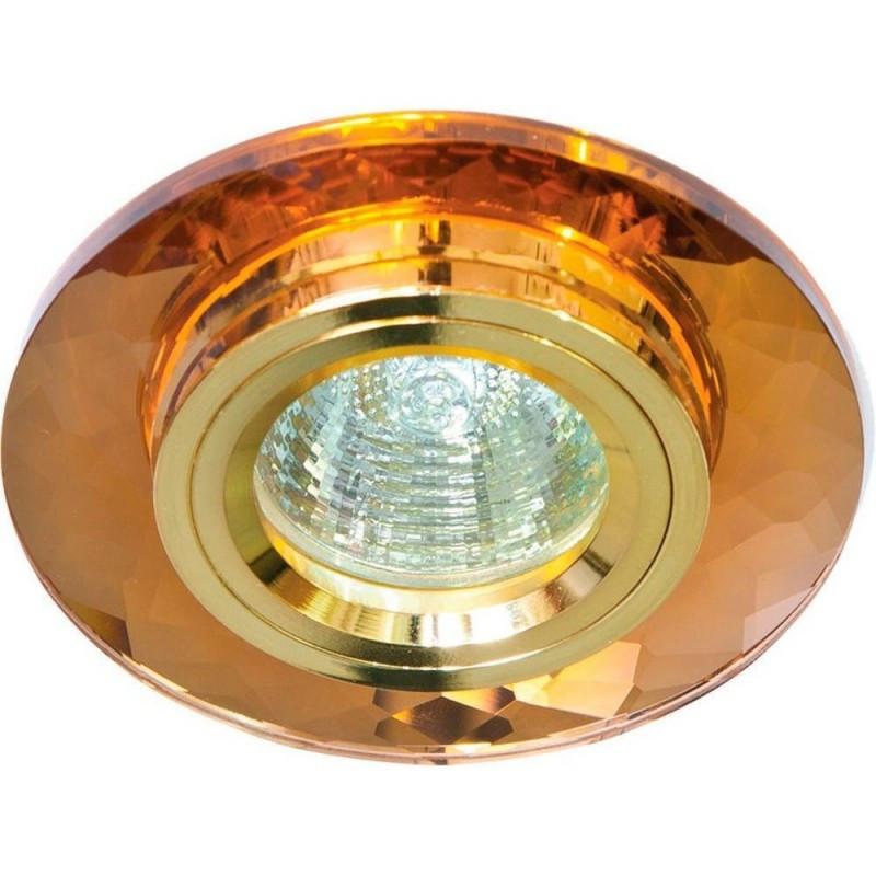 Точечный встраиваемый светильник Feron 8050-2 коричневый-золото