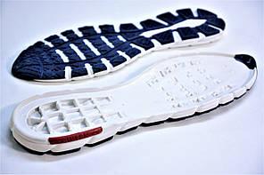 Подошва для обуви мужская 5455 бело-синяя  р.39,41,45 , фото 2