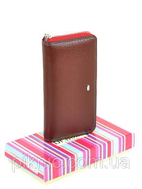 432b50aeaf8a Женский кожаный кошелек на молнии, клатч, портмоне Dr Bond. Из натуральной  кожи.