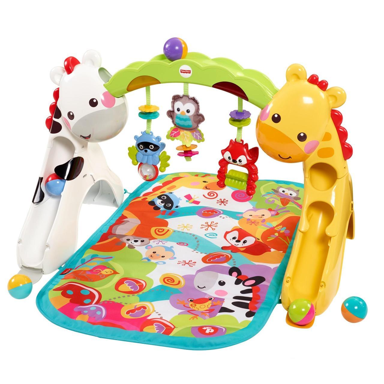Развивающий коврик Игровой центр Растем вместе 3 в 1 Fisher Price Newborn to Toddler Gym