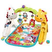 Развивающий коврик Игровой центр Растем вместе 3 в 1 Fisher Price Newborn to Toddler Gym, фото 1