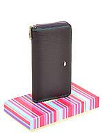 Женский кожаный кошелек на молнии, клатч, портмоне Dr Bond. Из натуральной кожи. Фиолет