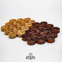 Фишки и кубики из бильярдного шара для нард, фото 1