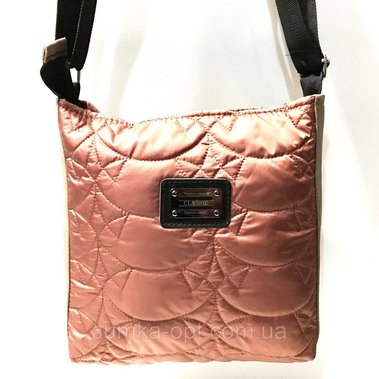 Стеганные сумки на плечо (коричневый узор)23*24см