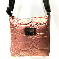 Стеганные сумки на плечо (коричневый узор)23*24см, фото 1