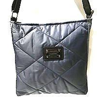 Стьобані сумки на плече (синій)23*24см