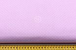Ткань хлопковая с белыми точками 2 мм на розовом фоне (№761)., фото 2