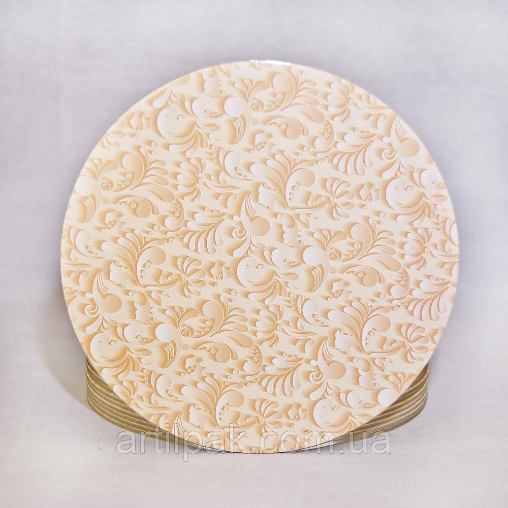 Підложка під торт 3,2 мм ламінована з принтом ВІНТАЖ 250мм
