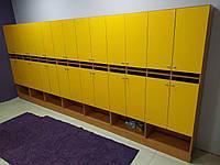 Двухъярусные шкафчики для оборудования дошкольных учреждений.